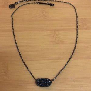 Kendra Scott Elisa Black Drusy Necklace